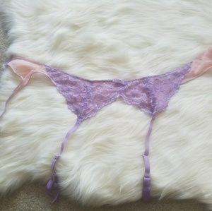 Fredrick's of Hollywood lavender garter belt
